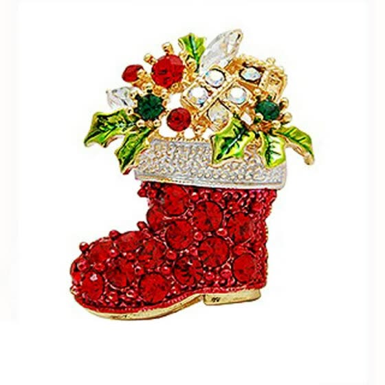 Christmas Brooches And Pins.Shop Yoursfs Christmas Gifts Nice Red Shoe Boot Brooches
