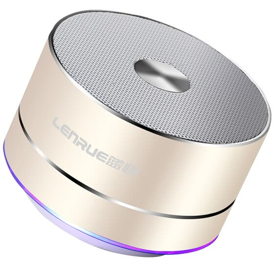 Blue Yue (LEnRuE) A2 wireless Bluetooth speaker mini portable card subwoofer phone small audio small steel gun computer speakers soil Hao gold [500mAh battery]