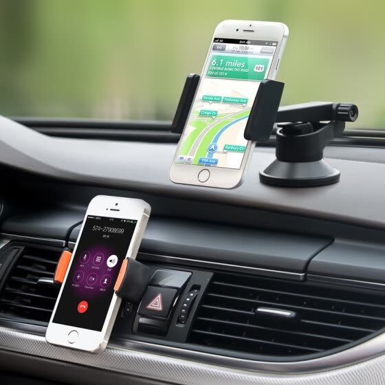 UP LP-10 Car Kit Mobile Phone Holder (two-piece set)  central console sucker type air outlet black width of mobile phone 60-85mm