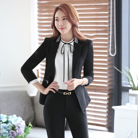 bc519e925b392e New Professional Formal Long Sleeve Female Blazers Jackets Business Women  Work Wear Autumn Winter Blazer Coat
