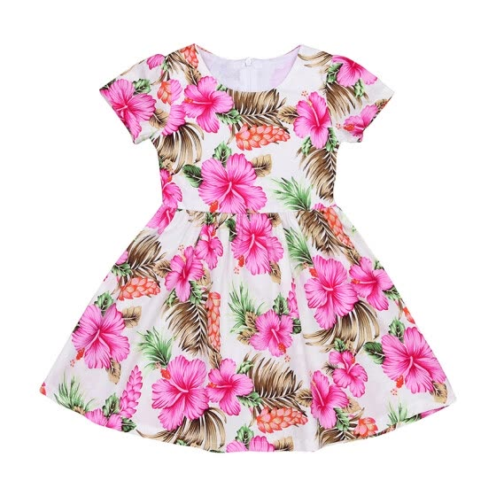CANIS@Baby Girls Kids Toddler Baby Flower Party Pageant Wedding Short Sleeves Dresses