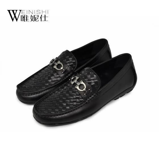 Men's Leather Shoes Seasons set foot men's casual wear leather shoes