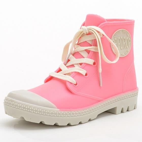 4b444c233 Гаитянский (Halteke) дождь сапоги мода холст сапоги водонепроницаемый дождь  сапоги резиновые туфли водная обувь