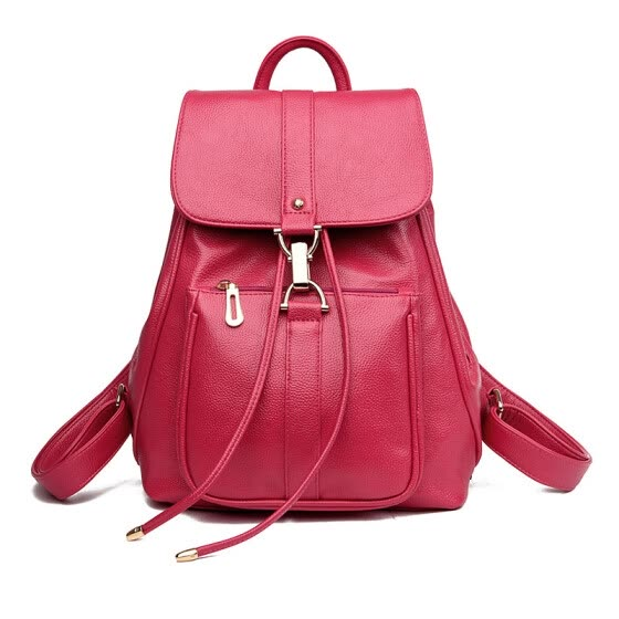 New Luxury Women Leather Backpack School Bags For Teenagers Girl's Designer Travel Bag Vintage Women Backpacks Mochilas Escolar