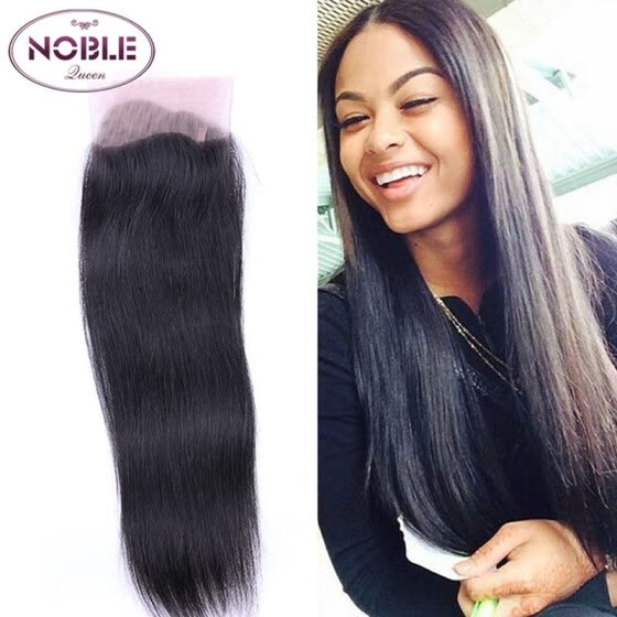 Noble Queen Hair Brazilian Straight Hair Lace Closure 4x4 Middle Part Top Closure Natural Color Remy Hair 100%Human Hair Closure