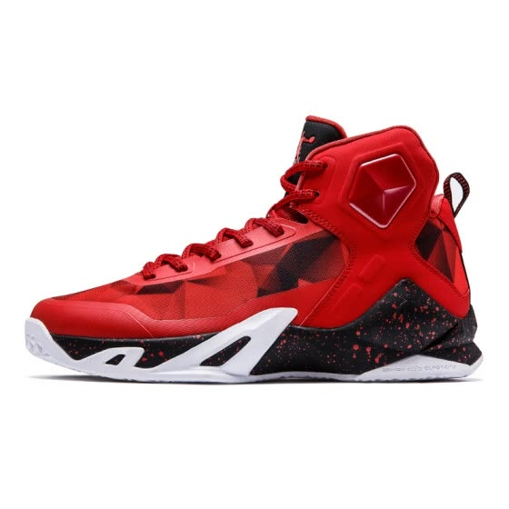 529e85b3dcc Qiaodan men s basketball shoes breathable shoes shock absorber sports male  boots XM3570137 new Qiaodan red