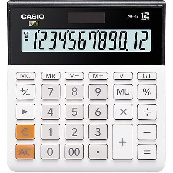 CASIO Small 12-Bit Dual Power Supply Ultra-Wide Calculator