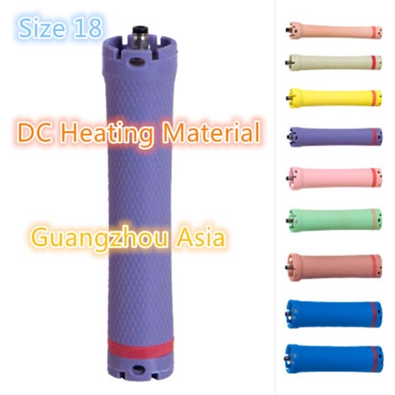 2017 hot sale hair perm roller, rod, curler, DC material, water-proof, 36V, size 18