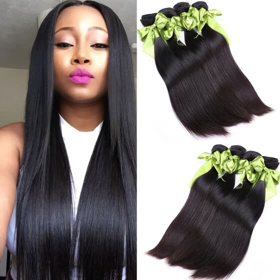 Mink Brazilian Virgin Hair Straight 4 Bundles 8A Grade Virgin Unprocessed Human Hair Brazilian Straight Hair Weave Bundles Sale