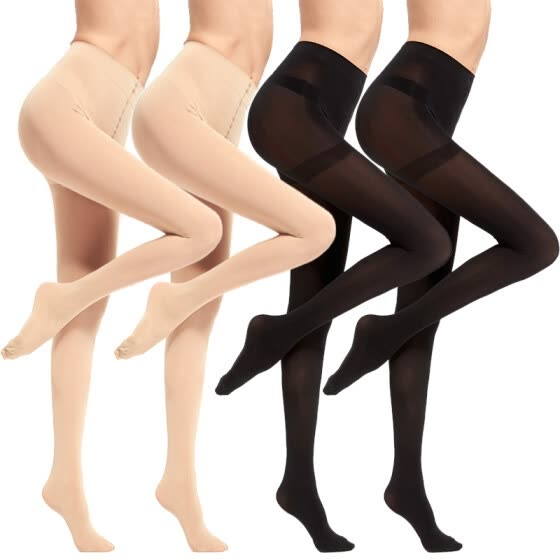 bc7615eed  Jingdong supermarket  Langsha stockings female spring and autumn through  velvet pantyhose high elastic shells