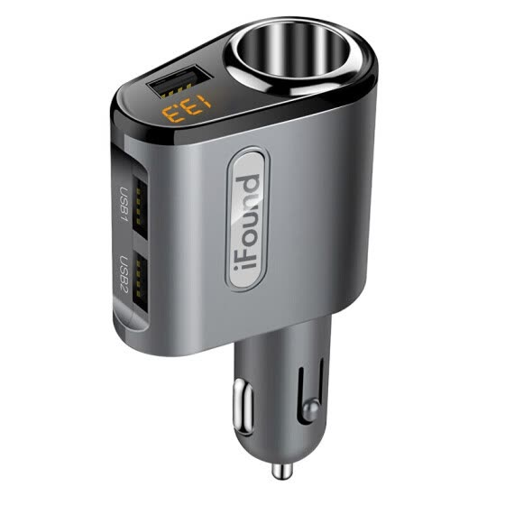 ifound Car Charger Cigarette Lighter FZ-29 3.1A Three USB Ports Voltage Detecting LED Digital Display