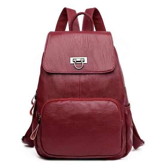 9dd70679f2 Fashion Women Genuine Leather Backpacks For Teenage Girls Designer High  Quality Sheepskin Backpack School Bags Mochilas