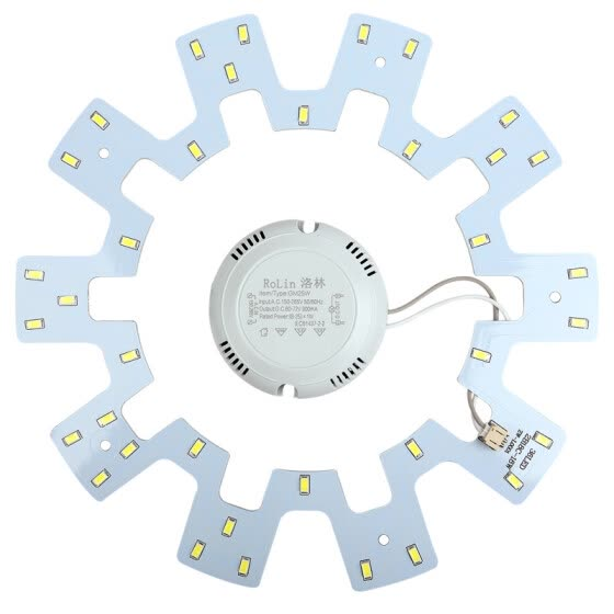 [Jingdong Supermarket] Lorraine (ROLin) light panel LED modified board energy-saving lamps SMD lamp plate 18W white light 6500K