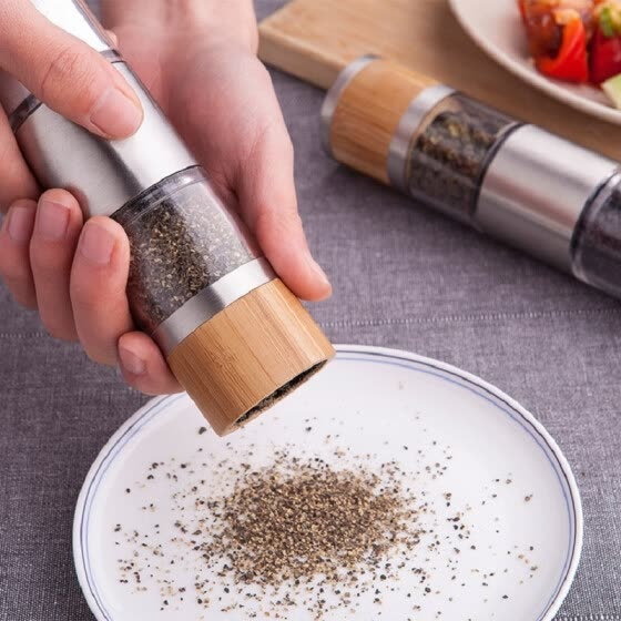 Bailun Bairun hand double-headed grinder pepper grinder black pepper pepper pepper grinder grinding bottle adjustable thickness 20213