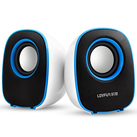LOYFUN  LF-804  USB Speakers Compact 2.0 System for Mac and PC (Blue)