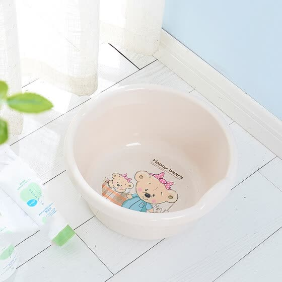 【Jingdong Supermarket】 Shun Mei plastic pot 34CM European style basin with handle thickened bathroom kitchen multi-purpose basin SM-2060 color random