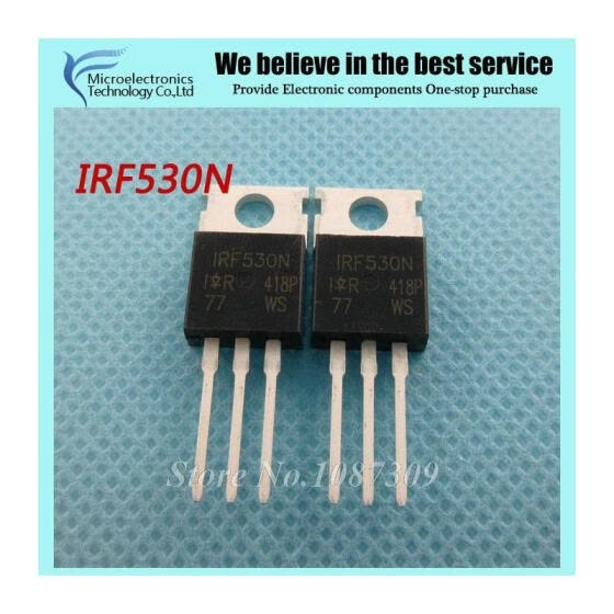 5PCS free shipping IRF530N IRF530 IRF530NPBF MOSFET MOSFT