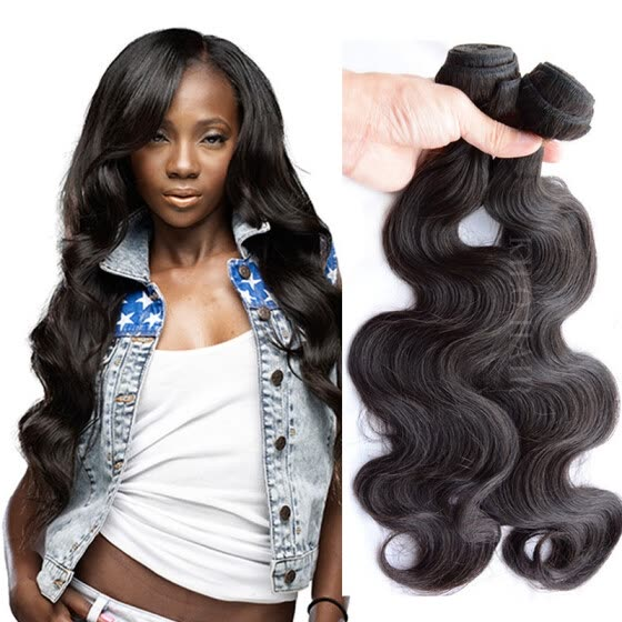 7A Grade Brazilian Body Wave 4 Bundles Queen Hair Products Wet and Wavy Virgin Brazilian Hair Weave Bundles Remy Human Hair