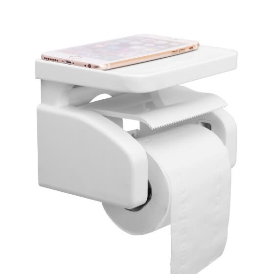【Jingdong Supermarket】 Jia Bai strong suction wall paper towel rack roll holder toilet bathroom racks paper towels box roll paper roll paper holder free punch paper towel rack roll paper holder