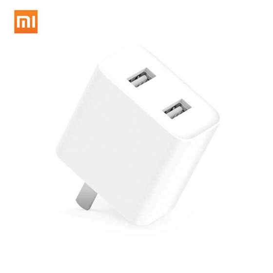 Xiaomi USB Charger Dual USB Output QC3.0 Travel Plug Adapter EU US UK Plug Adapter For Huawei Iphone OPPO Sony Letv Vivo Samsung
