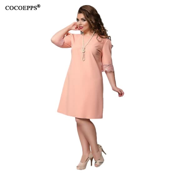 3952fa8c98 Shop COCOEPPS 2017 Plus Size Women Lace Dress Summer Large Size ...