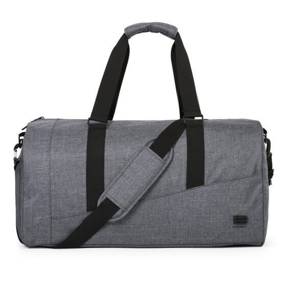 6bc8d232b13f BAGSMART Men Travel Bag Large Capacity Carry on Luggage Bag Nylon Travel  Duffle Shoe Pocket Overnight