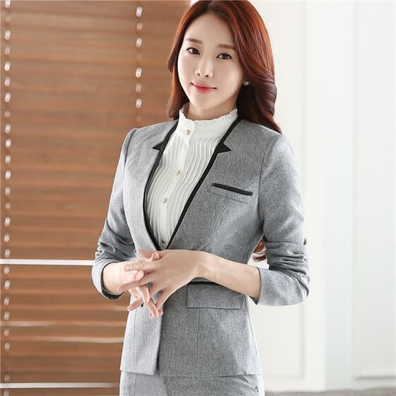 18766cdef8e313 Career long sleeve plus size women blazer New OL formal slim jackets office  ladies work wear