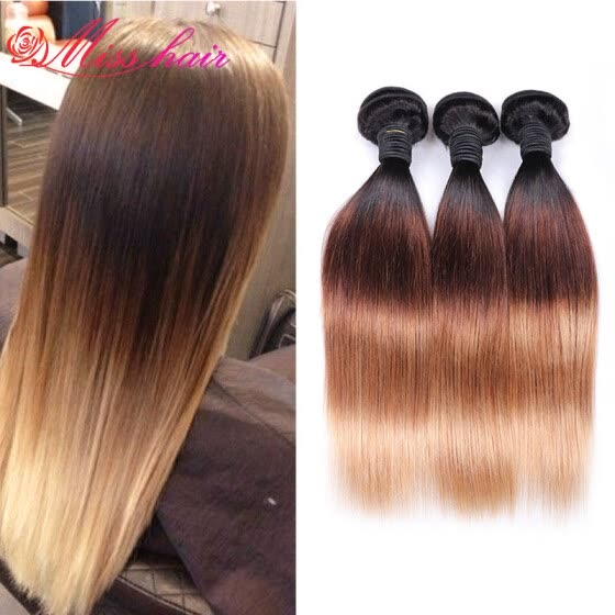 Shop 7a Unprocessed Virgin Ombre Short Malaysian Straight Hair