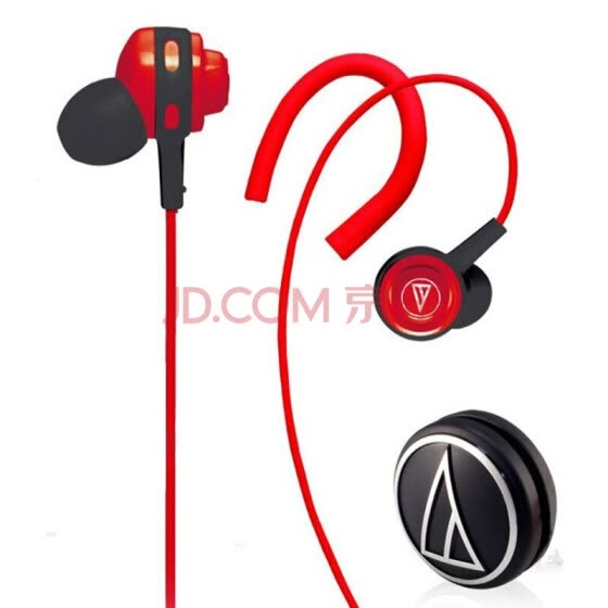 Iron-Technica ATH-COR150 RD In-Ear Music Headset Earhook Headphones Red