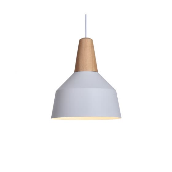BOKT Modern Simple 1 light Pendant Lamp Colorful Hanging Chandelier Shade Light Painted Finish Solid Wood Home Studio Office Decor