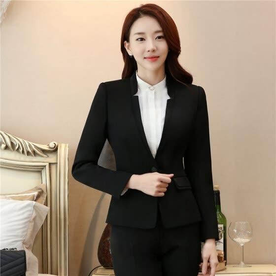 b97933534b945 Formal Office Blaser Suits Wear Women Long Sleeve Black Blazer Suit Jacket  Winter Autumn Spring Plus