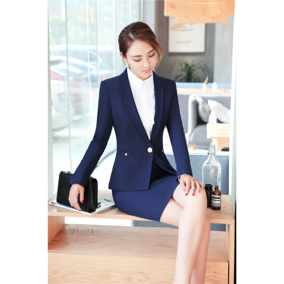 Blazers Fashion Autumn Women Blazers And Jackets Work Office Lady Suit Slim Black None Button Business Female Light Blue Blazer Coat Selling Well All Over The World