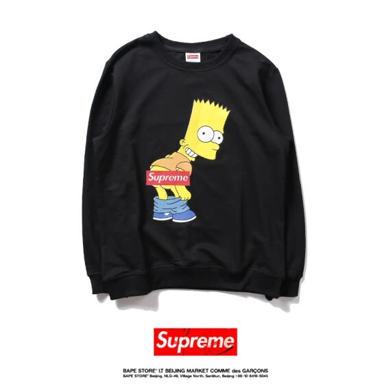 89a421f41fd8 Autumn and Winter Fashion Long Sleeve Seiko Version Supreme Simpson Sweater  Pure Cotton Hoodie