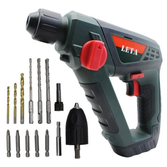 Leta Lithium Drill Tool Set Household Rechargeable Hammer Impact Drill Multi-Function Power Tools 16V LT-LE951