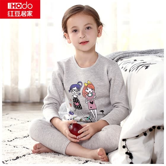 0a700d6f3c26e Red baby home (Hodohome) children's thermal underwear suit boys and girls  plus velvet thick
