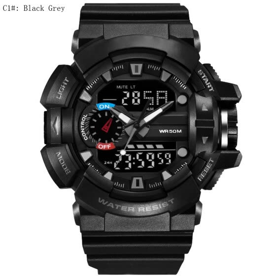 9Colors Trendy Fashion Men Sports Watches Male LED Digital Quartz Wristwatch Water Resistance 30M