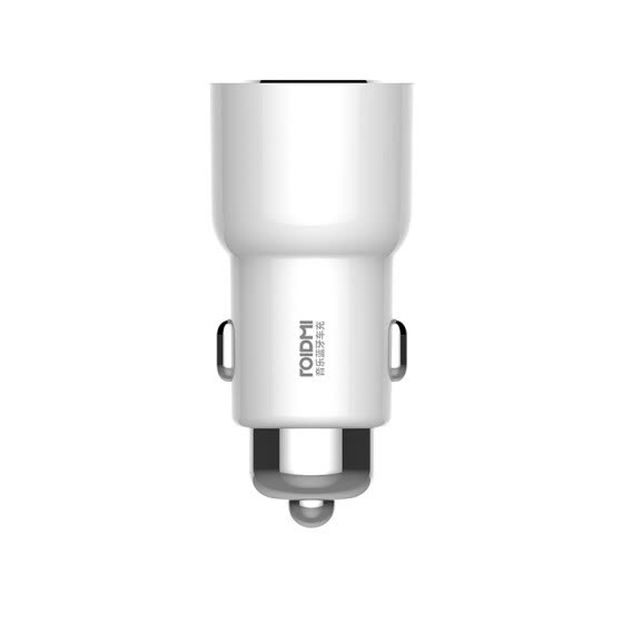 Xiaomi ROIDMI 3S Bluetooth 5V 3.4A Car Charger Music Player FM Smart APP for iPhone and Android Smart Control MP3 Player white