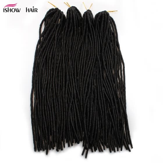100% Handmade Synthetic Dreadlocks 20inch Double Ended Hair Extensions Black Braiding Hair Dreads