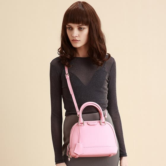 574085174 DISSONA Europe and America simple shell bag handbag atmospheric commuter  shoulder bag 8154A16131R02 pink