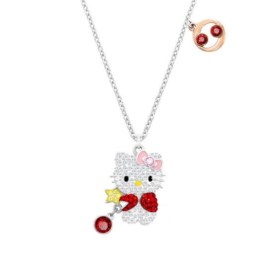 ca5a501b7 Shop Swarovski Hello Kitty Cancer Lady Necklace 5215294 Online from ...