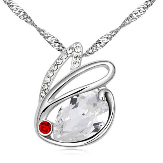 Austrian Crystal Pendant Rabbit Necklace For Women Fashion Jewelry Anniversary Gift Female High Quality Bijoux .12865