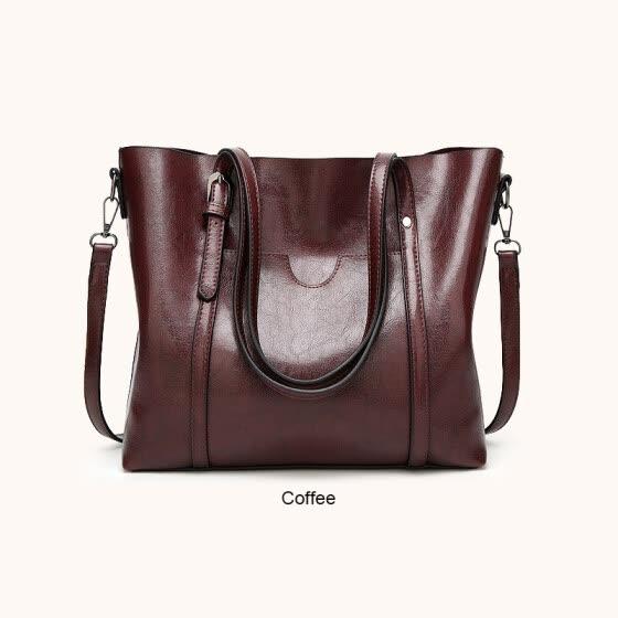 22300707873d Shop Women PU Leather Handbags Shoulder Solid Soft Shoulder Bag ...