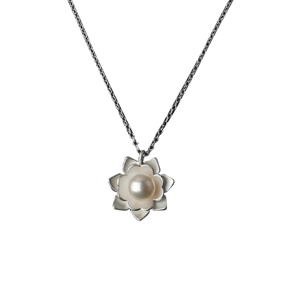Shop Luo Linglong S925 Sterling Silver Pearl Necklace Female Lock