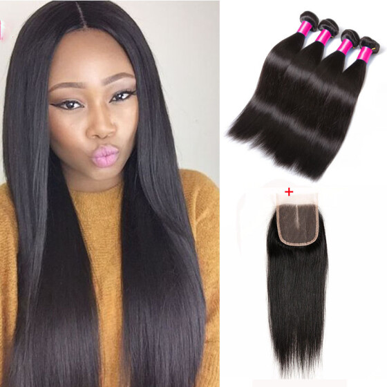 Hair Extensions & Wigs Indian Curly Bundles With Closure #27 Honey Blonde Color Human Hair Weave 3 Bundles With 4x4 Lace Closure Double Weft Hair 3/4 Bundles With Closure