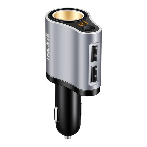 HSC HSC-119A 100W 3.1A Dual USB Car Charger Mini Car Charger USB Cigarette Lighter Socket Splitter 12V-24V Power Adapter New Hot