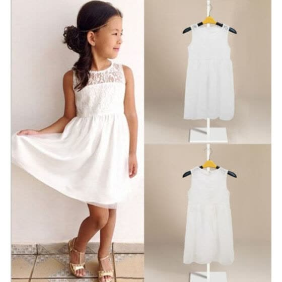 cb916357f Cute Fashion Kids Girls Toddler Baby Lace Princess Party Dresses Skirt  Clothes