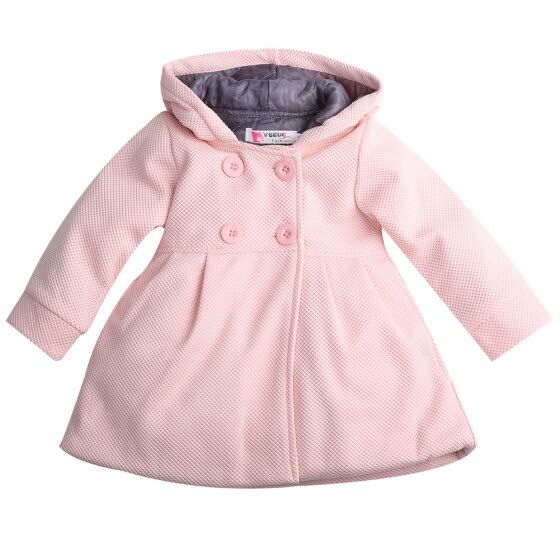 3ffd5a10a5ef Cute Baby Girl Winter Warm Wool Blend Snowsuit Pea Coat Outerwear Jacket  Clothes