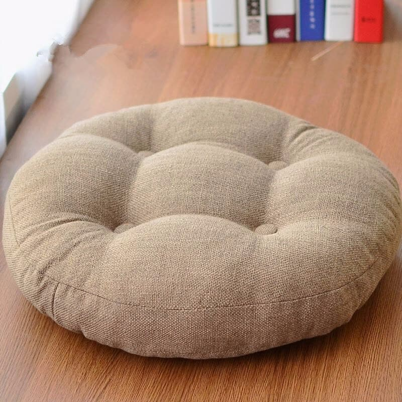 High Quality Linen Cotton Futon Seat Cushion Round Square Japanese Style Teahouse Floor Cushions Tatami Dormitory
