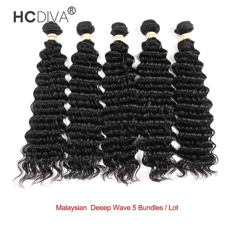 Hcdiva Malaysian Virgin Hair Deep Wave 5 Pieces Lot Good Quality