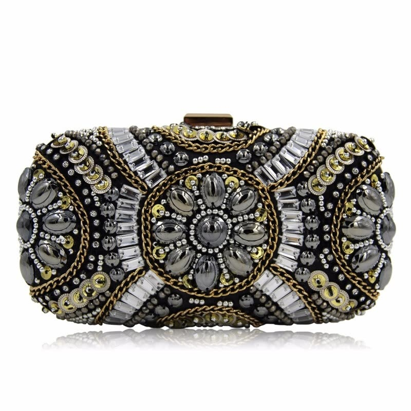 Milisente Fashion Women Bag Luxury Mini Beaded Wedding Day Clutches Party Purse Evening Bags Small Bouquet